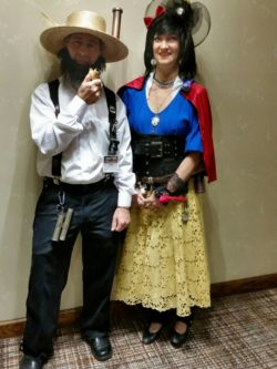 Steampunk Amish Farmer Andy and Snow White Jenee