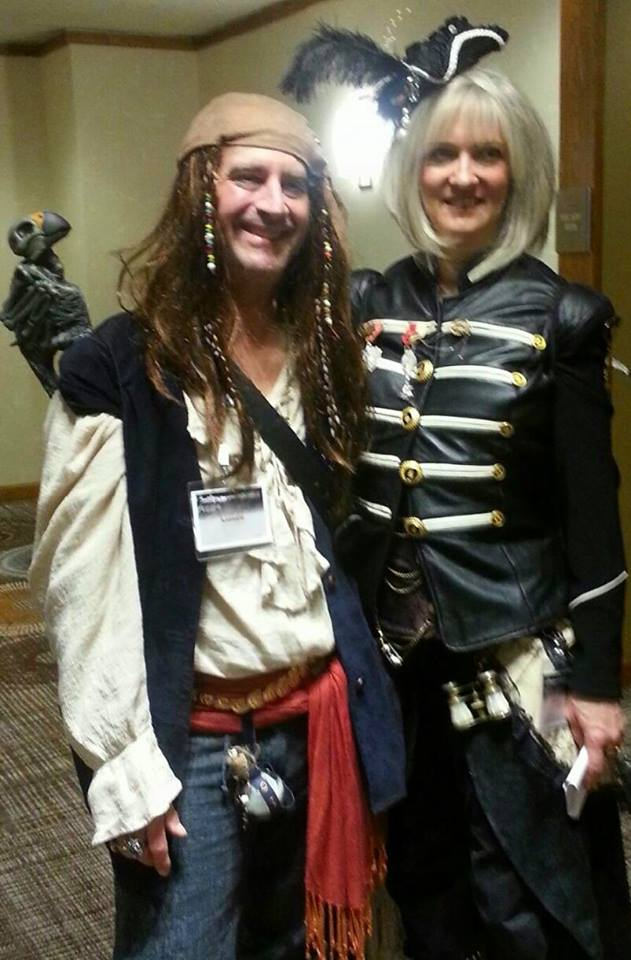 Airship Pirate Jenee and Old School Pirate Andy